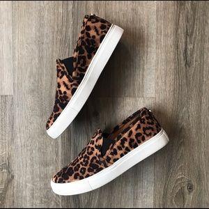 So cute! 🐆 Steve Madden leopard slip-on sneakers